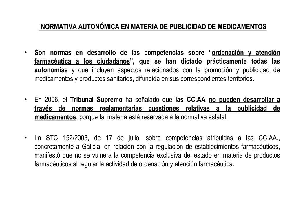 A Directiva comunitaria sobre a publicidade de medicamentos